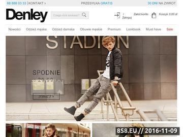 Zrzut strony Denley.pl Sklep Internetowy Odzież Płaszcze Kurtki Koszule Męskie