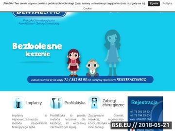 Zrzut strony Gabinet Stomatologiczny Wrocław