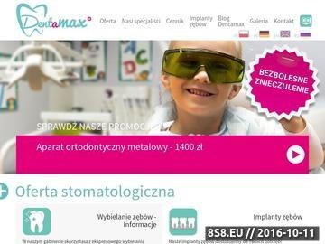 Zrzut strony Usługi stomatologiczne w różnych dziedzinach