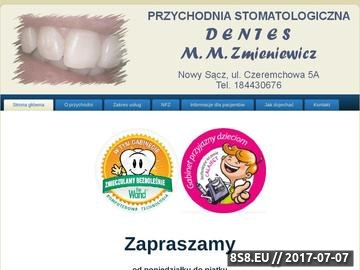 Zrzut strony Przychodnia stomatologiczna DENTES chirurgia stomatologiczna