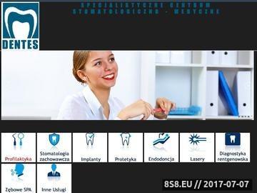 Zrzut strony Dentes - Specjalistyczne Centrum Stomatologiczno-Medyczne