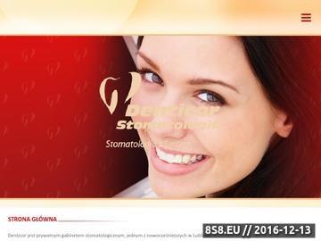 Zrzut strony Gabinet stomatologiczny Denticor