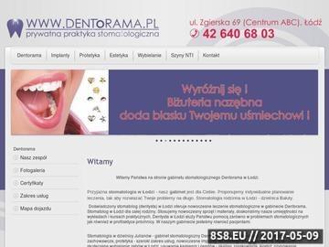 Zrzut strony Stomatologia, protetyka, implanty, wybielanie zębów, licówki