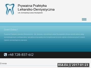 Zrzut strony Profesjonalnie prowadzona Prywatna Praktyka Dentystyczna