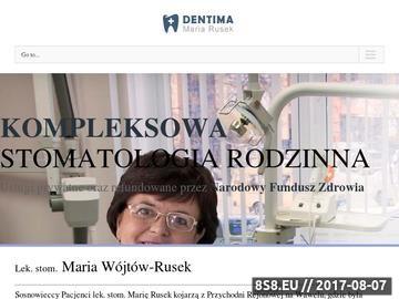 Zrzut strony Gabinet stomatologiczny Sosnowiec
