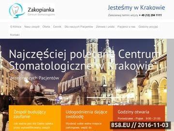 Zrzut strony Ortodoncja Kraków