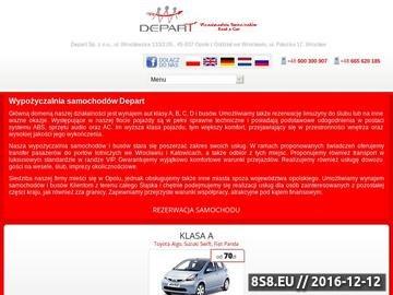 Zrzut strony Wypożyczalnia samochodów Depart