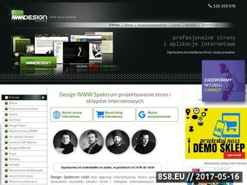 Zrzut strony Agencja Interaktywna Design WWW Spektrum Łódź.