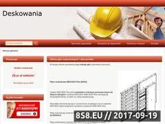 Miniaturka domeny www.deskowania.pro