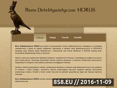 Miniaturka domeny www.detektyw-horus.pl