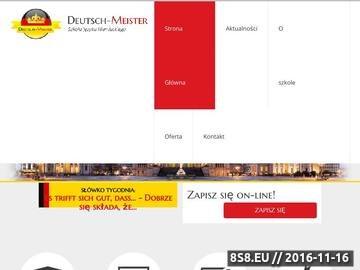 Zrzut strony Deutsch-Meister - niemiecki dla firm