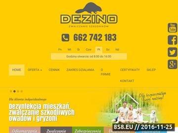 Zrzut strony Dezino - ochrona przed szkodnikami - dezynfekcja, dezynsekcja i deratyzacja