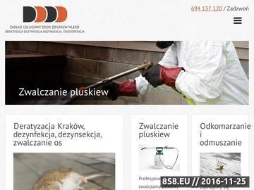 Zrzut strony Zwalczanie pluskiew - deratyzacja Kraków