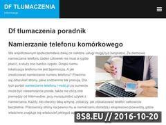 Miniaturka domeny dftlumaczenia.pl