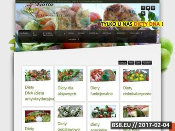 Zrzut strony Catering dietetyczny Warszawa