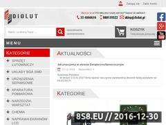 Thumbnail of Sklep elektroniczny ze sprzętem serwisowy - DIOLUT Website