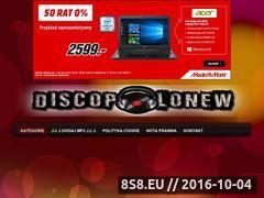 Miniaturka domeny discopolonew.cba.pl