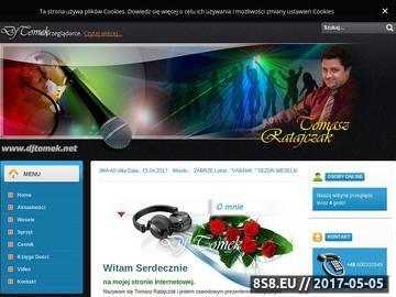 Zrzut strony Dj Tomek na wesele Śląsk