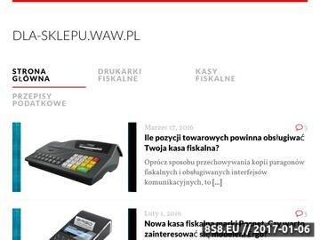 Zrzut strony Blog dla osób zainteresowanych kasami oraz drukarkami fiskalnymi