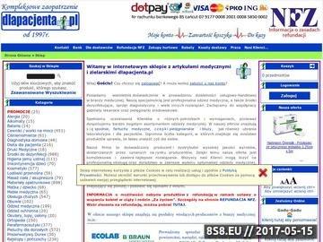 Zrzut strony Dlapacjenta.pl - pieluchy dla dorosłych