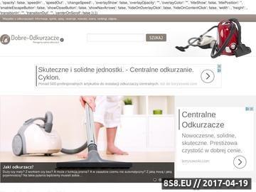 Zrzut strony Wszystko o odkurzaczach w Dobre-Odkurzacze.pl