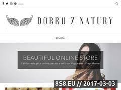 Miniaturka domeny www.dobroznatury.pl