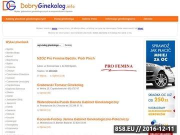Zrzut strony Szukasz dobrego ginekologa ?