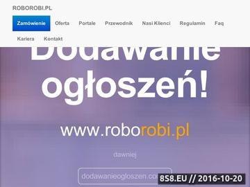 Zrzut strony Dodajemy ogłoszenia do 121 portali w Polsce