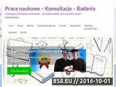 Miniaturka domeny www.doktoraty.pl