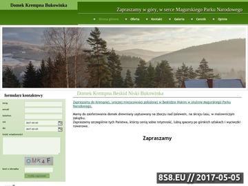 Zrzut strony Domek Krempna, Beskid Niski, Bukowinka