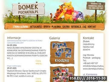 Zrzut strony Żłobek Wrocław Domek Puchatka idealny dla Twojego dziecka.