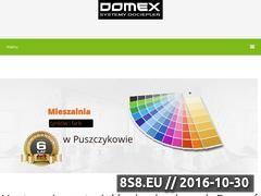 Miniaturka domeny domex-puszczykowo.pl