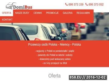 Zrzut strony Przewozy osób Polska - Niemcy Domibus