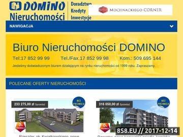 Zrzut strony Biuro obrotu nieruchomości - DOMINO