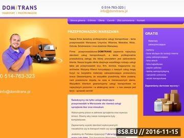 Zrzut strony Firma przeprowadzkowa w mieście Warszawa, dzielnicy Ursynów