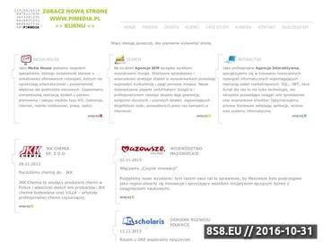 Zrzut strony Zakup mediów, kampanie reklamowe oraz pozycjonowanie stron