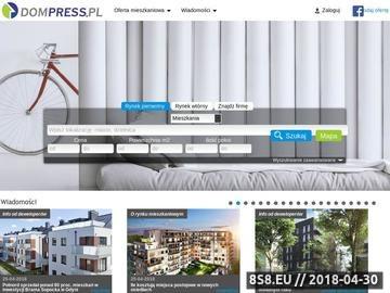 Zrzut strony Mieszkania na sprzedaż, mieszkania wynajem i mieszkania TBS