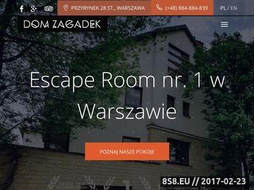 Zrzut strony Escape Room w Warszawie