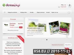 Miniaturka domeny www.donice24.pl