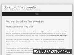 Miniaturka Efect Doradztwo Finansowe - inwestycje, kredyty (www.doradztwoefect.info.pl)