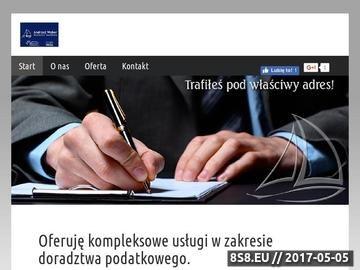 Zrzut strony Kancelaria podatkowa Andrzej Weber