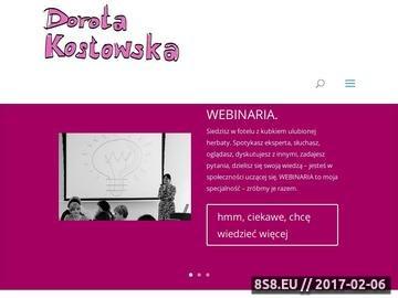 Zrzut strony Webinar internetowy dla firmy - Dorota Kostowska