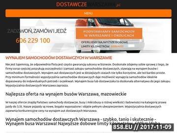 Zrzut strony Wynajem samochodów dostawczych Warszawa