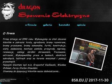 Zrzut strony Spawanie elektryczne Dragon