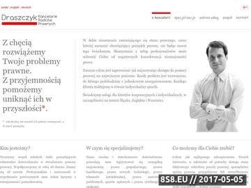 Zrzut strony Łukasz Draszczyk - pomoc prawna