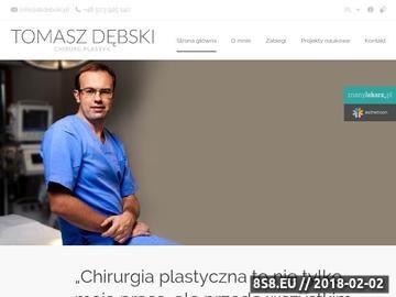 Zrzut strony Usługi z zakresu chirurgii plastycznej