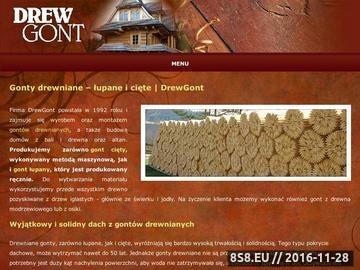 Zrzut strony Gonty drewniane