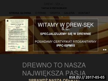 Zrzut strony DREW-SĘK PPH s.c. tartak