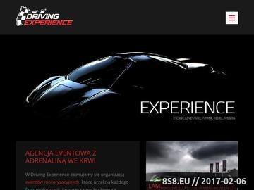 Zrzut strony Driving Experience - wyjazdy integracyjne dla firm
