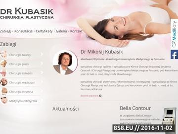 Zrzut strony Dr Kubasik chirurgia plastyczna